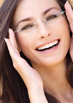 beautiful woman wearing eye glasses